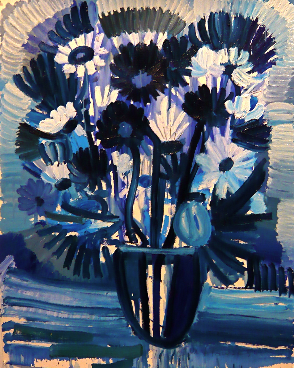 Untitled (Blue flowers) Gerben Mulder