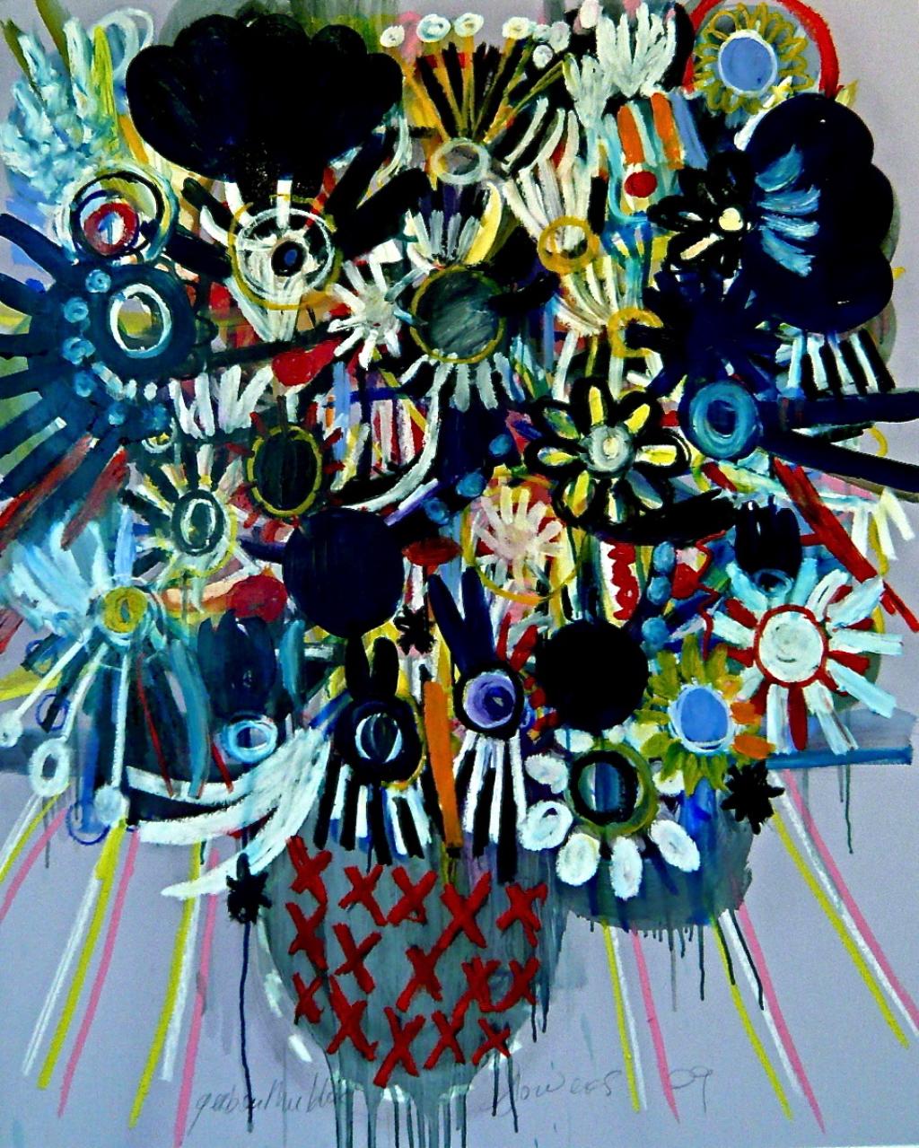 flowers in vase 4, 2009  Gerben Mulder